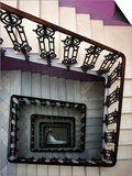 Staircase in Purple Nest Hostel Prints by Krzysztof Dydynski