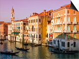 Gondolas on the The Grand Canal Prints by Glenn Beanland