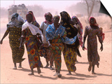 Women Walking Out of Town, Maradi, Niger Posters by Oliver Strewe