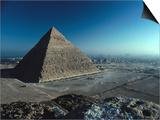 Pyramid of Chephren from Top of Pyramid of Mycerinus Giza, Egypt Prints by John Borthwick