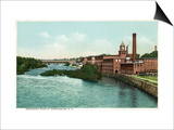 Manchester, New Hampshire, Merrimack River View of Factories Prints by  Lantern Press
