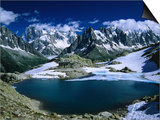 Lac Blanc y el macizo del Mont Blanc en el Tour Du Mont Blanc, Alta Saboya, Mont Blanc, Francia Pósters por Gareth McCormack