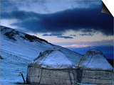 Yurts at Dawn, Kyrgyzstan Prints by Anthony Plummer