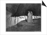Procession of Damned Print by Gustave Doré