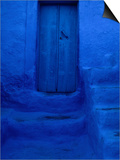 Painted Door, Wall and Steps, Pothia, Kalymnos, Greece Poster by Jeffrey Becom
