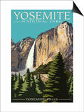 Yosemite Falls - Yosemite National Park, California Póster por  Lantern Press