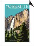 Yosemite Falls - Yosemite National Park, California Póster por  Lantern Press