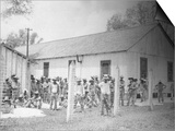 Prison Compound No. 1, Angola, Louisiana, Leadbelly in Foregound Prints by Alan Lomax