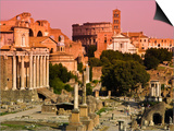 Roman Forum from Capitoline Hill Poster by Glenn Beanland