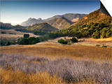 Malibu Creek State Park, from Mulholland Highway in Santa Monica Mountains Near Malibu Prints by Witold Skrypczak
