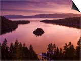 Winter Sunrise at Emerald Bay, Lake Tahoe Print by Witold Skrypczak