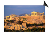 The Acropolis Taken from Phiopappos Hill, Athens, Greece Prints by John Elk III