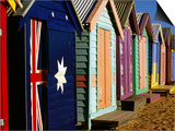 Brightly-Painted Beach Huts, Brighton, Melbourne, Victoria, Australia Posters by Daniel Boag