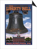 Independence Hall and Liberty Bell - Philadelphia, Pennsylvania Prints by  Lantern Press