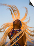 Intore Dancer Flicking His Hair, Rwanda Prints by Ariadne Van Zandbergen