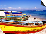 Fishing Boats on Beach Prints by Greg Johnston