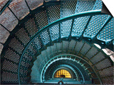 Iron Staircase of Currituck Beach Lighthouse Print by Peter Ptschelinzew