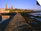Early Morning on the Pier, St. Andrews, United Kingdom Prints by Jonathan Smith