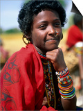 Portrait of Girl Riding Home from Market Near Tessenei, Eritrea Posters by Frances Linzee Gordon
