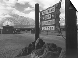 Entrance to Manzanar Relocation Center Poster by Ansel Adams