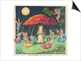 Fairies at Play, a Toadstool Makes a Convenient Merry-Go- Round Prints by Mildred Entwhistle
