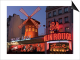 2010 Moulin Rouge night fall Print