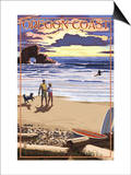 Oregon Coast Scene at Sunset Prints by  Lantern Press