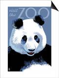 Panda Face - Visit the Zoo Prints by  Lantern Press