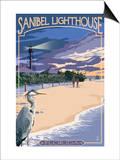 Sanibel Lighthouse - Sanibel, Florida Poster by  Lantern Press