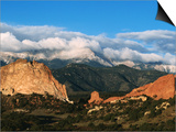 Garden of the Gods and Pikes Peak at Sunrise, Colorado Springs, Colorado Art by Holger Leue