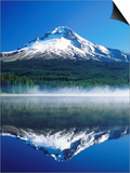 Trilium Lake with Mt. Hood in Background, Mt. Hood, Oregon Art by John Elk III