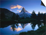 Reflection of the Matterhorn in Waters of Grindjisee, Switzerland Art by Gareth McCormack