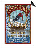 Snowshoe, West Virginia - Ski Shop Art by  Lantern Press