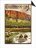 Cottonwood Cove, Colorado Views Print by  Lantern Press