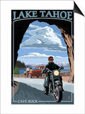 Lake Tahoe, California - Motorcycle Scene Prints by  Lantern Press