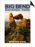 Big Bend National Park, Texas - Window Rock Posters by  Lantern Press