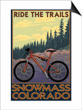 Snowmass, Colorado - Mountain Bike Prints by  Lantern Press