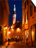 Town Hall in Distance, on Raekoja Plats, Tallinn, Estonia Art by Jonathan Smith