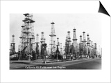 California - View of Oil Fields near Los Angeles Posters by  Lantern Press