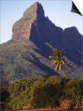 Rocky Peak of Mt. Rempart, Tamarin, Mauritius Art by Tom Cockrem