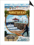 Manhattan Beach, California - Montage Scenes Posters by  Lantern Press