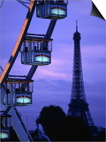 The Paris Ferris Wheel and Eiffel Tower, Paris, Ile-De-France, France Prints by Doug McKinlay