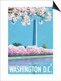 Washington DC, Washington Monument Print by  Lantern Press