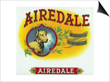 Airedale Brand Cigar Box Label Posters by  Lantern Press