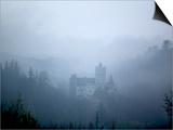 Bran Castle, Dracula's Castle, in Fog, Transylvania Prints by Gavin Quirke