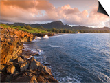 Poipu Beach, Cliffs, Kauai, Hawaii Prints by John Elk III