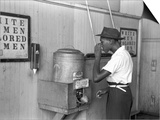 """Colored"" Water Cooler in Streetcar Terminal, Oklahoma City, Oklahoma Prints by Russell Lee"