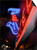 Neon Sign for the Yale Hotel Blues Club, Vancouver, Canada Prints by Lawrence Worcester