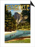 Merced River Rafting - Yosemite National Park, California Prints by  Lantern Press
