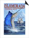 Islamorada, Florida Keys - Sailfish Scene Prints by  Lantern Press